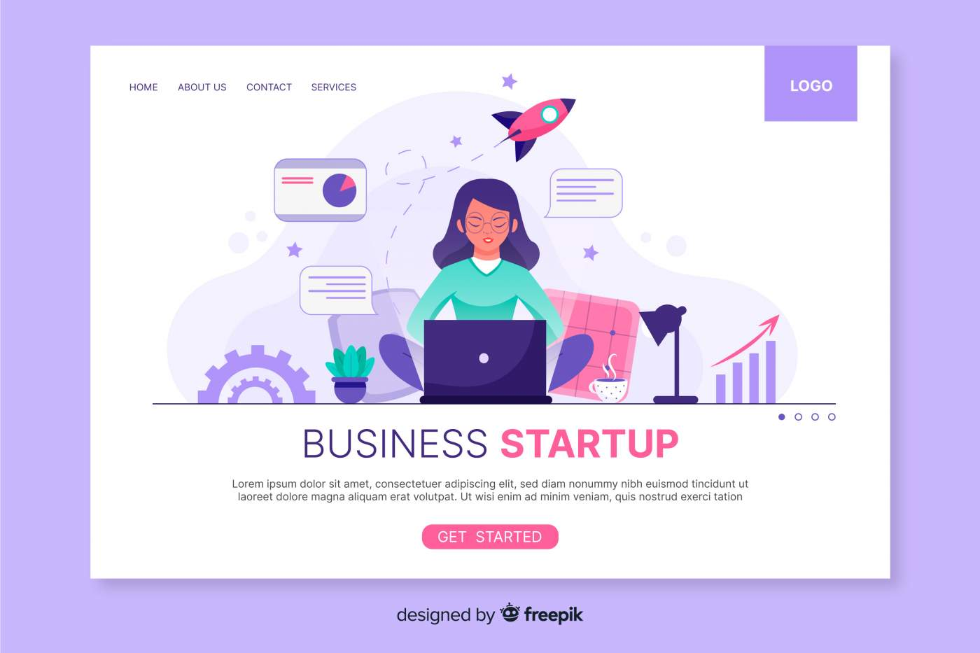 Startup page
