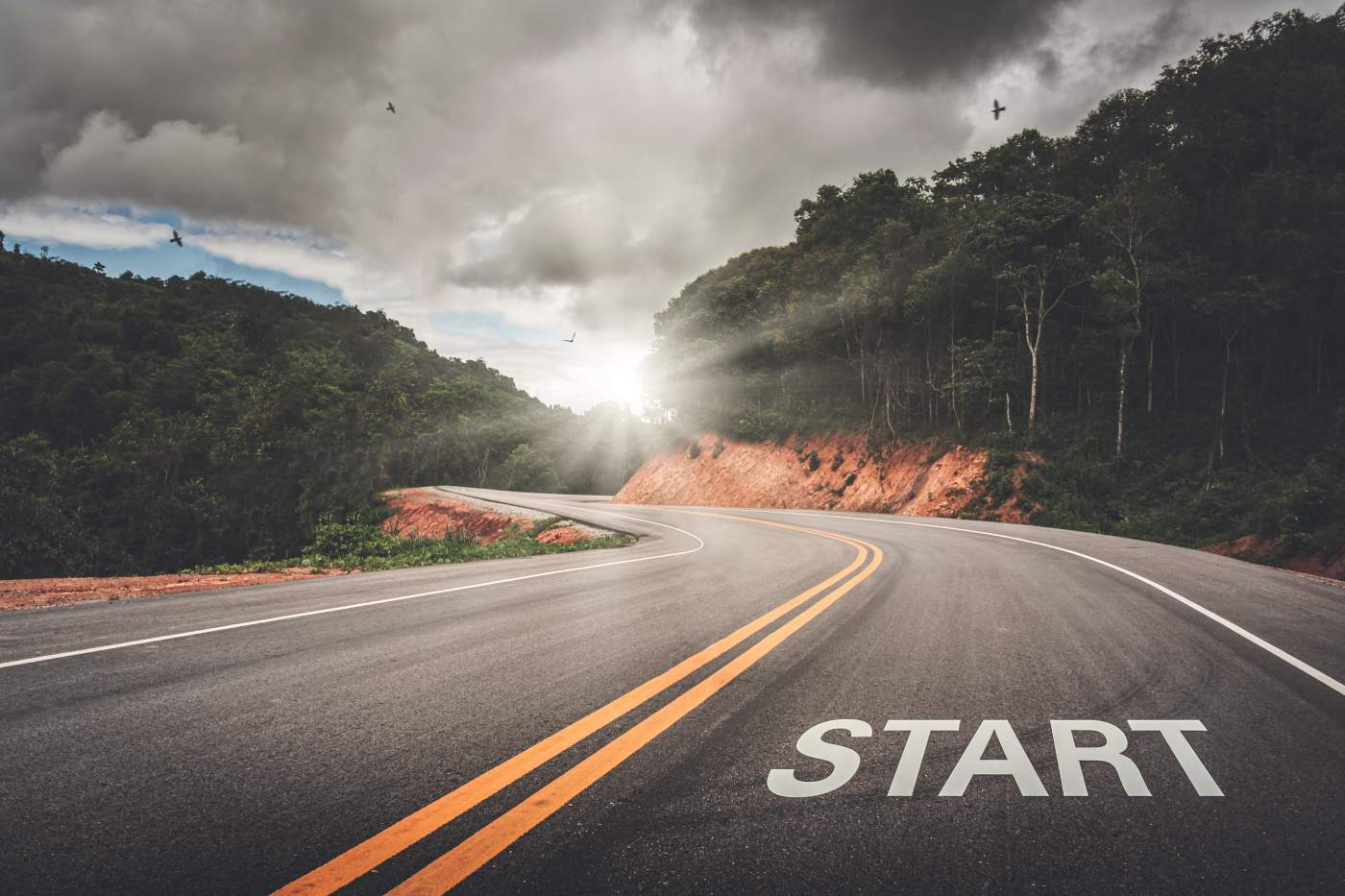 Start point on the road of business or your life success
